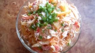 Салат Петергоф. Оригинальный, вкусный, полезный! Salad Peterhof.