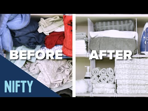 The Easiest Linen Closet Makeover