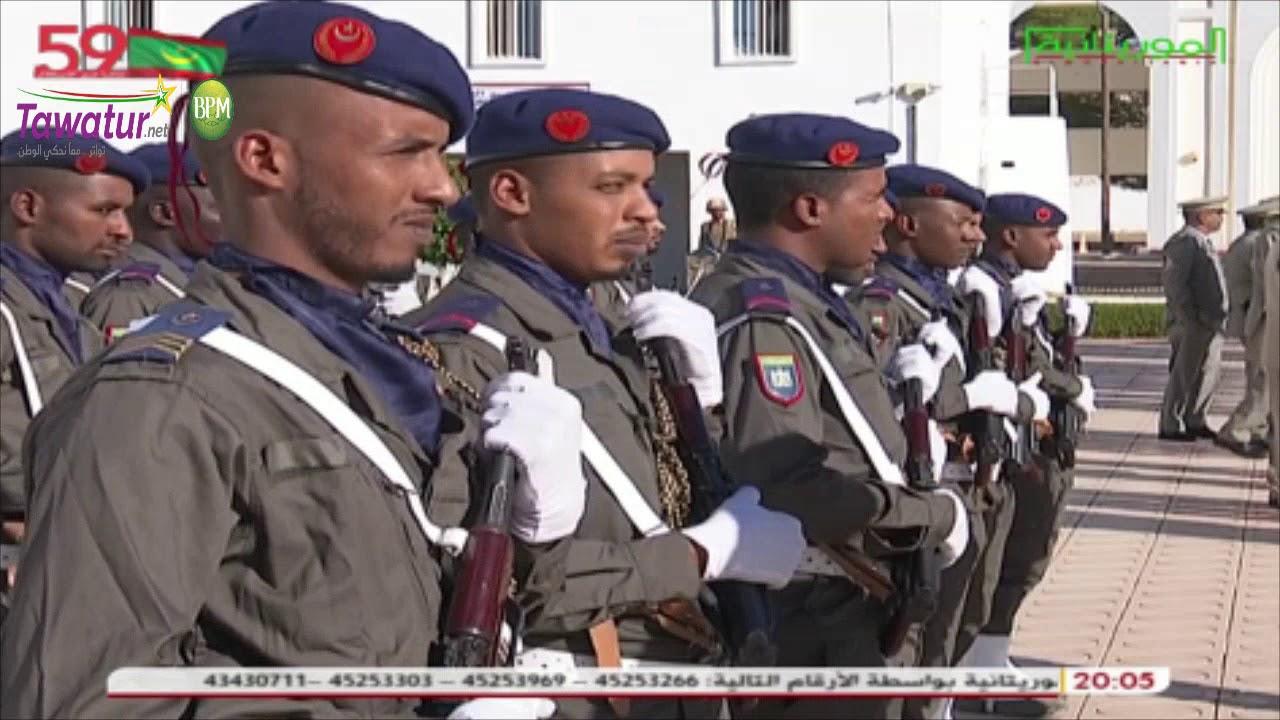 وزير الدفاع وقائد أركان الجيوش يشرفان على حفل تخليد ذكرى عيد الجيش الموريتاني | قناة الموريتانية