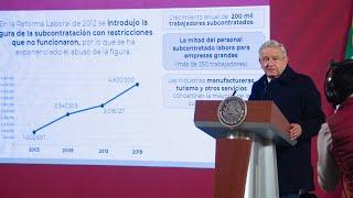 Anuncio de decreto para control de presas. Conferencia presidente AMLO