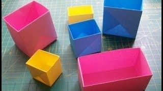 Очень простые поделки из бумаги: коробочка оригами. Easy origami box