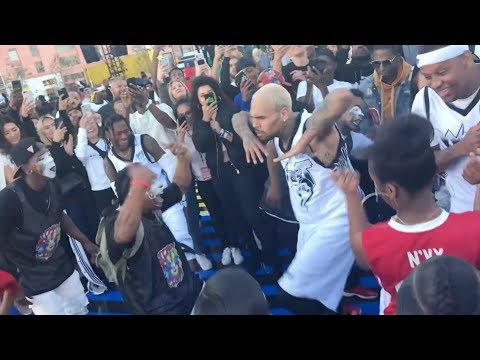 Chris Brown dance-off with Snoop Dogg at NBA All Star Weekend