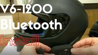 V6-1200 Bluetooth Headset Communicator Installation
