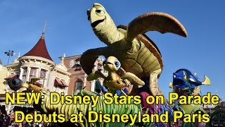 NEW Disney Stars On Parade At Disneyland Paris First Showing 25th Anniversary W New Floats