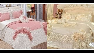 Beautiful and stunning bed spread /bridal bed sheet 'royal bed covers