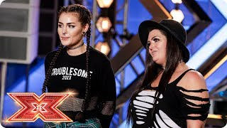 Mother-daughter duo Descendance cover Macklemore | Auditions Week 3 | The X Factor 2017