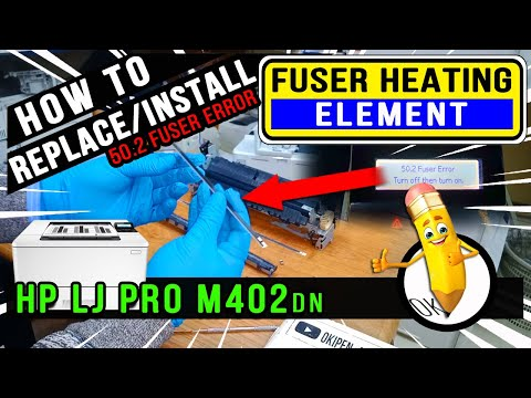 How To Replace | Install | Fuser Heating Element | HP Laserjet Pro M402dn