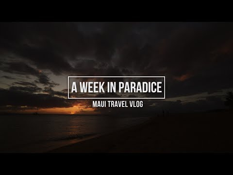 MAUI TRAVEL VLOG: A Week In Paradise