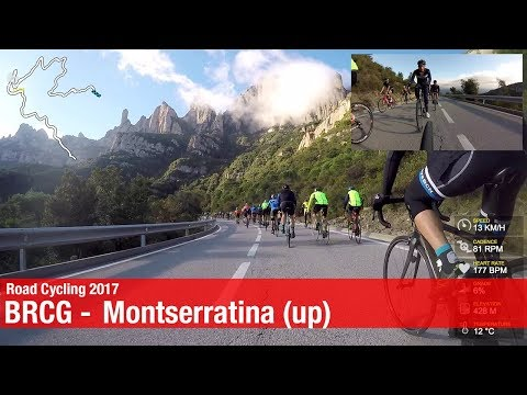 BRCG - La Montserratina 2017 ascent - Cycling in Barcelona Spain // Canyon Ultimate CF SLX