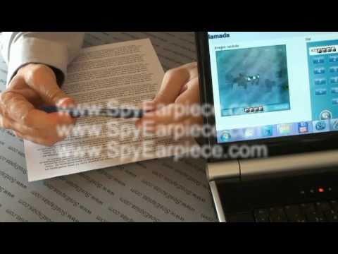 Spy Earpiece Camera to Spy Earpiece cheat test