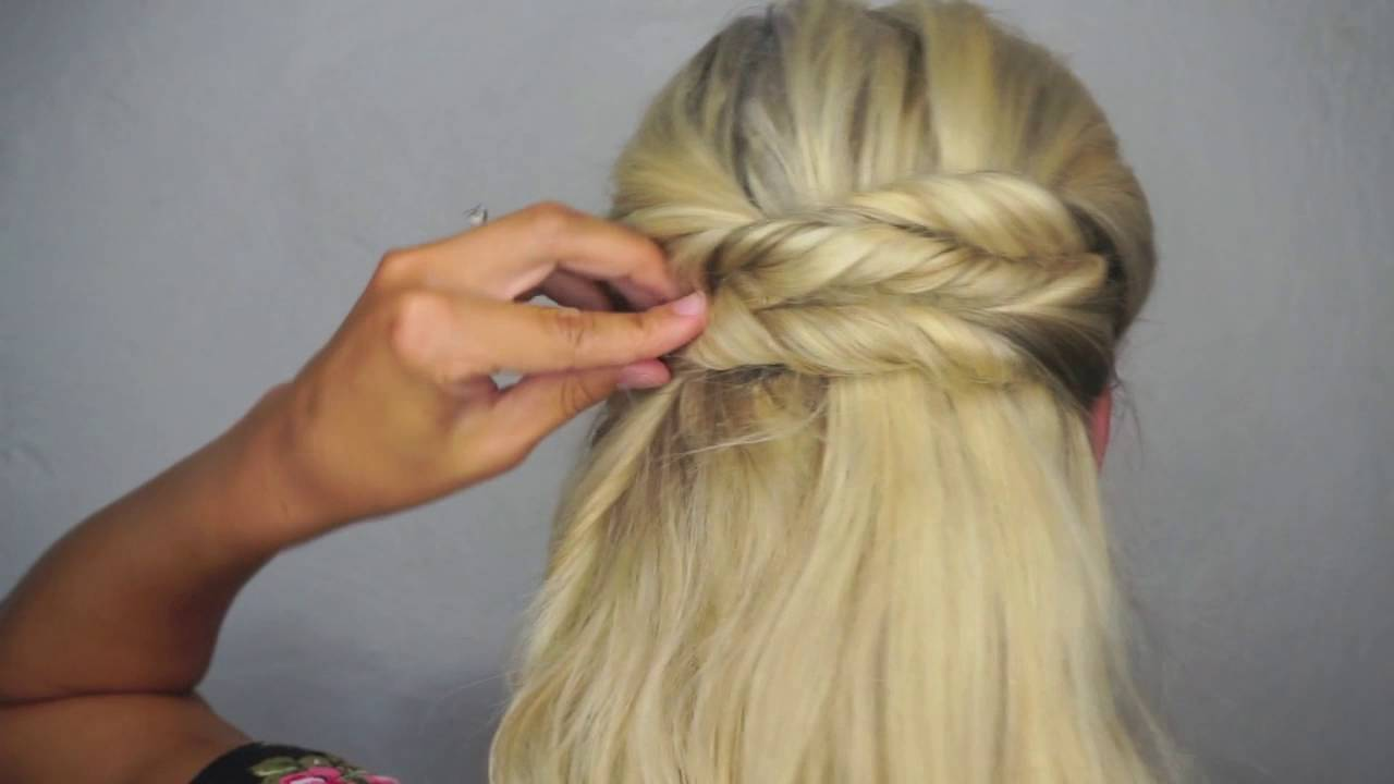 Easy Twisted Updo With Luxy Hair Extensions Youtube