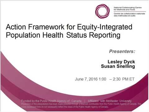 NCCMT Spotlight Webinar: Action Framework for Equity-Integrated Population Health Status Reporting