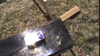 DIY Fresnel lens solar glass melting foundry