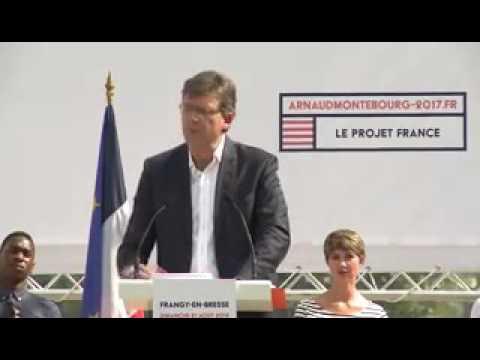 Déclaration de candidature d'Arnaud Montebourg à Frangy 320x240