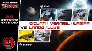 Lando/Luke vs Oicunn/Vermiel/Wampa - Star Wars X-Wing 2.0 Battle Report