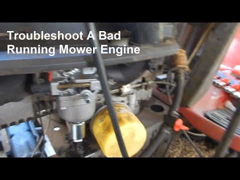 Craftsman Riding Mower Runs Rough & Hard To Start. Troubleshoot & Repair