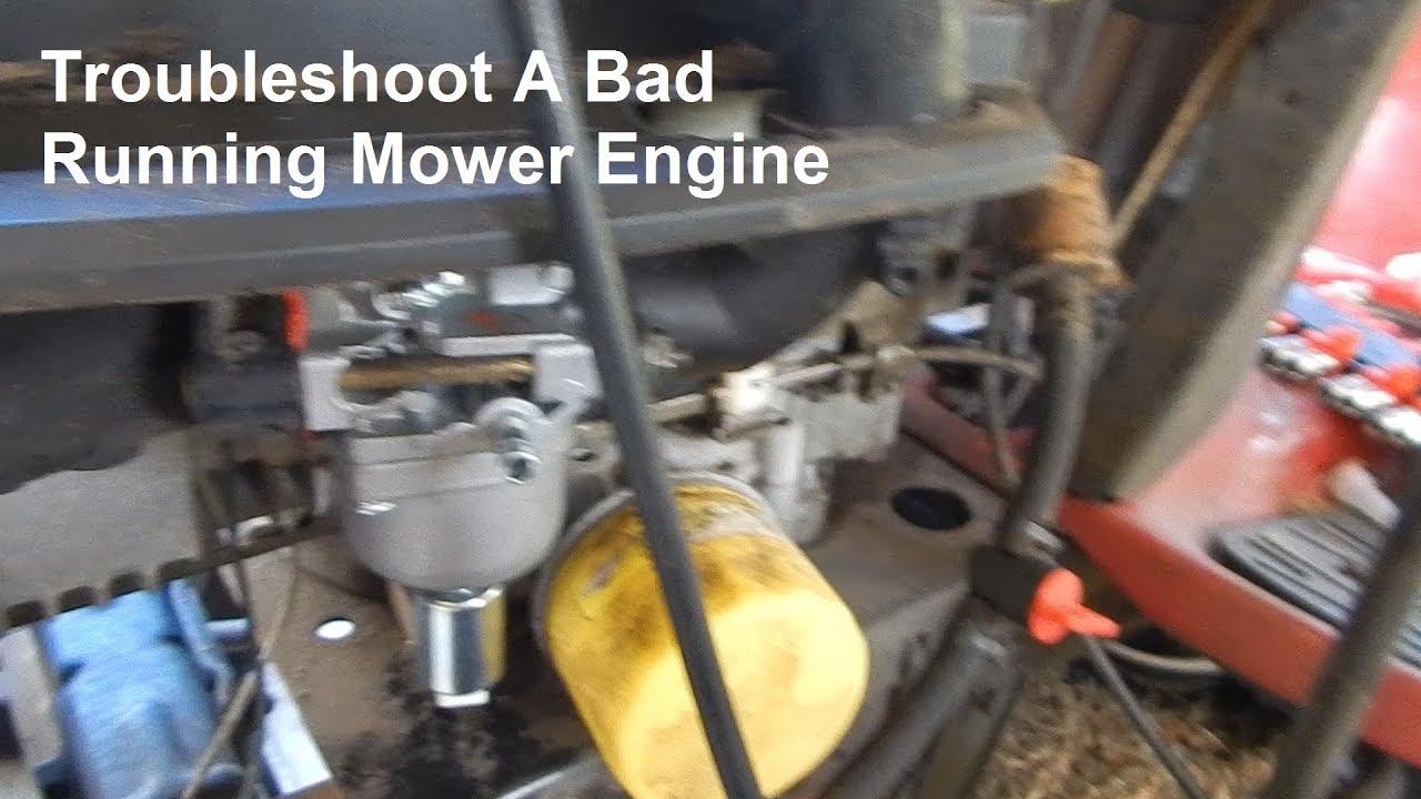 Craftsman Riding Mower Runs Rough & Hard To Start  Troubleshoot & Repair