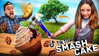 Tik Tok Treats &amp Trees go Crashing + a Squash Bomb &amp Cupcakes Smashing (FV Family Super Rando Vlog)
