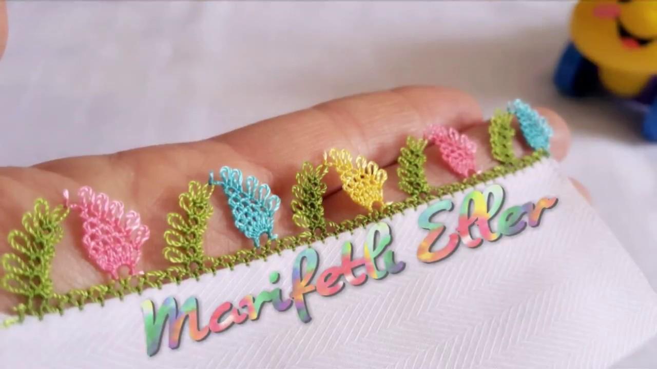 Muhteşem Badem Şekeri İğne Oyası Modeli Yapılışı Videolu