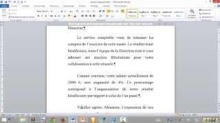 Comment organiser vos paragraphes -Word 2010