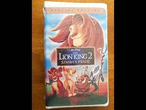 Opening To The Lion King 2 Simba S Pride Special Edition 2004 Vhs Youtube