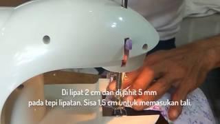 Cara Membuat Pola Dan Menjahit Baju Romper Bayi Bagian 2 MENJAHIT LIPATAN LENGAN DAN LINGKAR LEHER