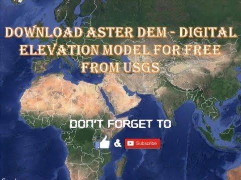Download ASTER DEM   Digital Elevation Model for Free from USGS