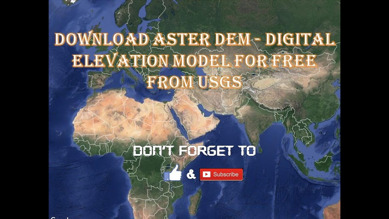 Download ASTER DEM Digital Elevation Model For Free From USGS - Digital elevation model download
