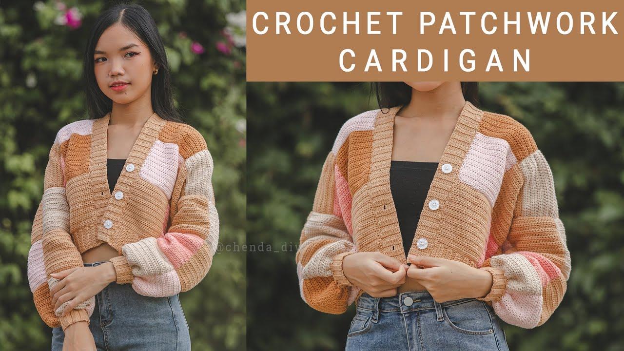 Crochet Patchwork Cardigan Tutorial | Inspired by Harry Style Cardigan | Chenda DIY