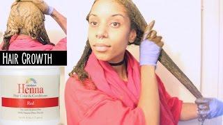 henna application for hair growth long hair