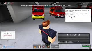 Roblox RTF RP Präsentation von Feuerwehrfahrzeugen und Reaktion