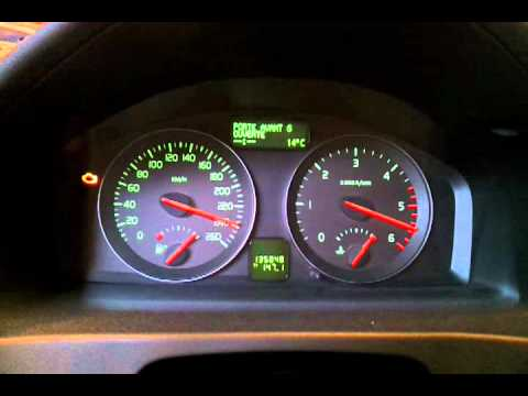 Volvo V50 Instrument Cluster Test Youtube