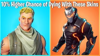10 FORTNITE SKINS THAT WILL GET YOU KILLED! (unless ur ninja)