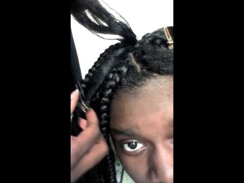 Crochet Box Braids With Rubber Bands : DIY Rubber band method box braids part 1 - YouTube