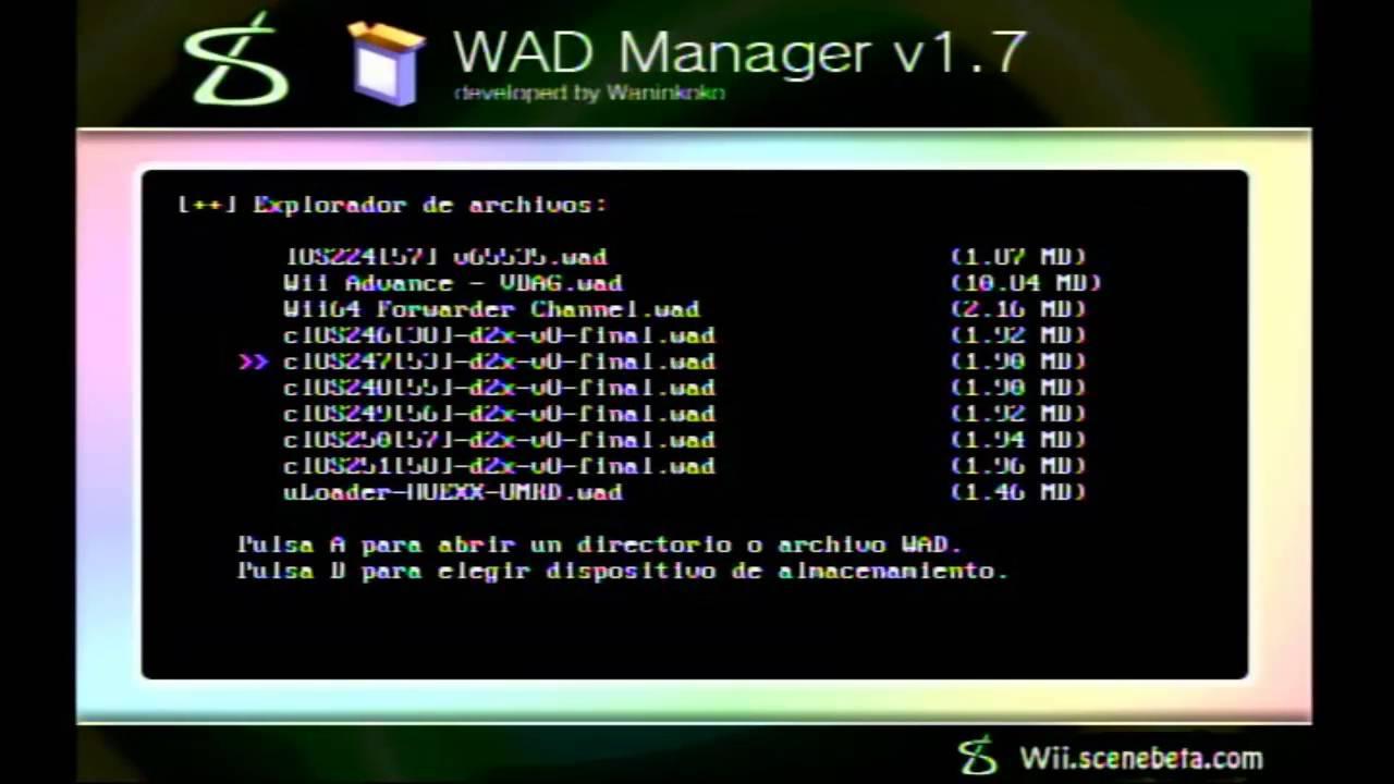 como descarga e instalar cios d2x v8 para wii (sin internet)