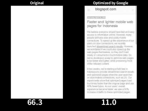 Faster and lighter mobile web pages 2G example