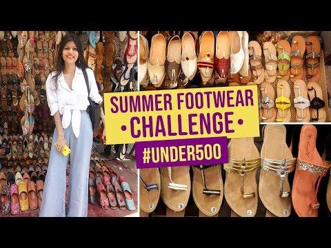 1647d6fd72b Summer Footwear Challenge #Under500 | Ep05 | Street Shopping | Fashion |  Pinkvilla | Bollywood