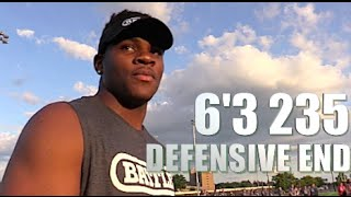 6'3 DE Lockin Up WRs. Kid has CRAZY Skills Micah Parson '18 : Central Dauphin (Harrisburg ,PA )