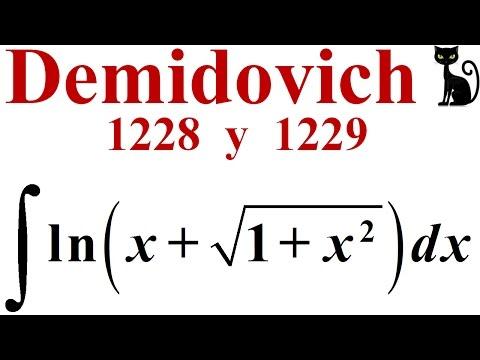 Fórmula De Integración Por Partes. Demidovich 1228 Y 1229.
