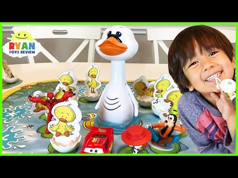 Thumbnail: Duck Duck Goose game for kids! Family Fun Game Night Egg Surprise Toys