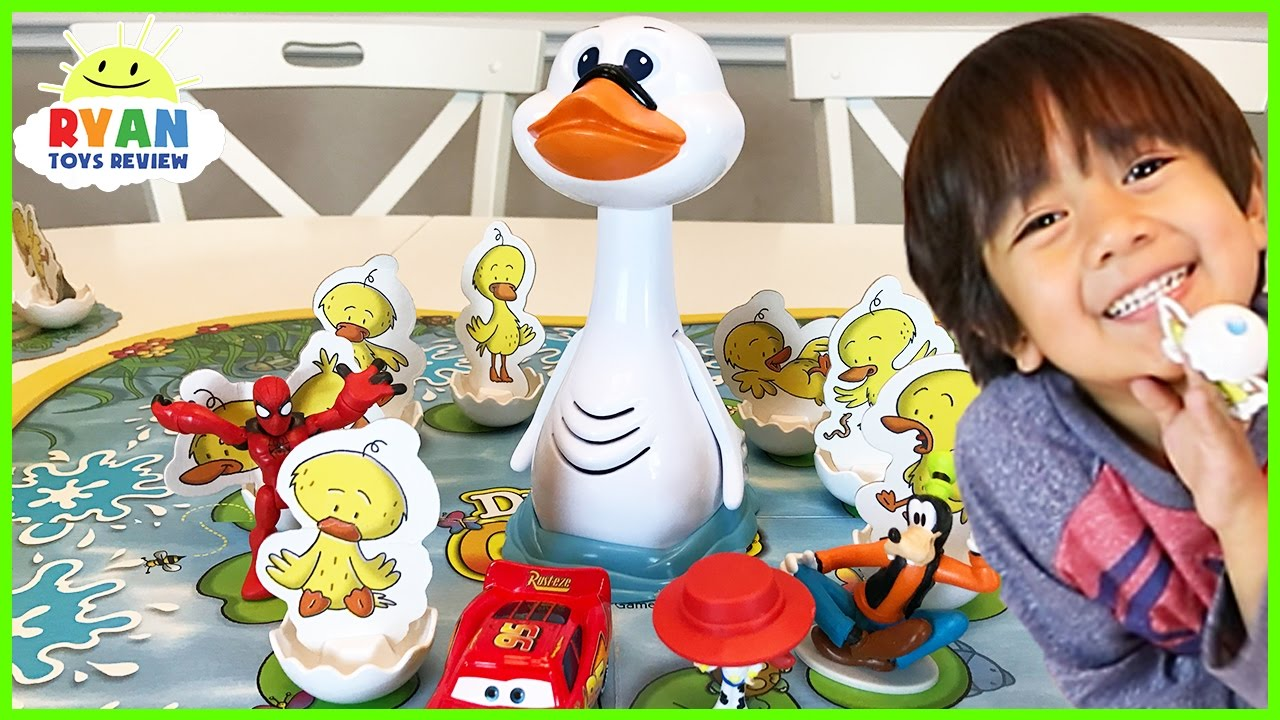 Duck Duck Goose game for kids! Family Fun Game Night Egg Surprise Toys