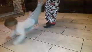 Funny baby loves to spin!!!