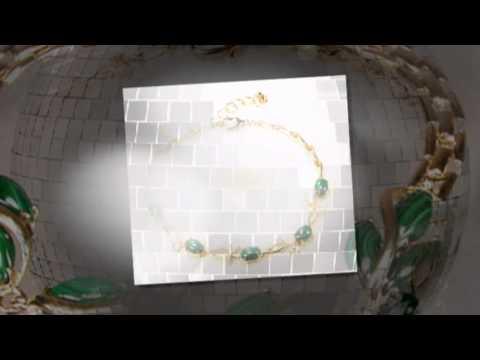 Ювелирная бижутерия со вставками из малахита
