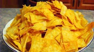 Домашние чипсы из лаваша (закуски к пиву рецепты)