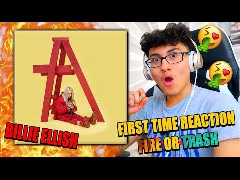 KID FIRST TIME REACTING TO BILLI ELLISH!FIRE OR TRASH??