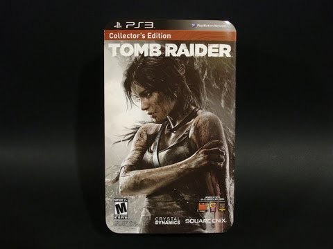 Unboxing: New Tomb Raider Collector's Edition for PS3 + Pre Order bonus