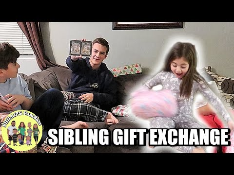 OPENING PRESENTS on CHRISTMAS EVE 2018 | SIBLING GIFT EXCHANGE | PHILLIPS FamBam Vlogs