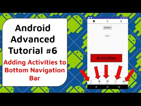 Bottom Navigation Bar With Activities - Android Advanced Tutorial #6