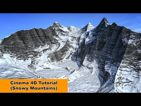 Snowy Mountains And Height-Map (Cinema 4D Tutorial)