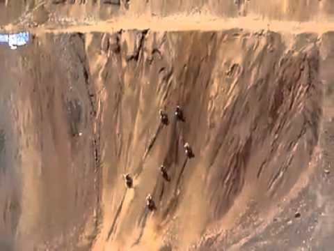 Motocross race uphill
